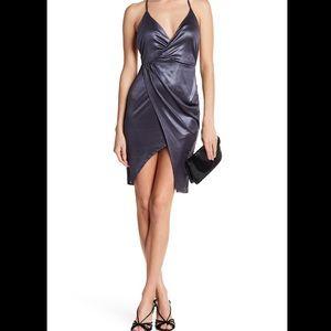 Lush Gunmetal Metallic Cocktail Dress